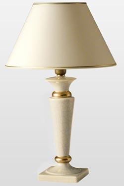 Lena Champagne lampe de table crème forme classique. Le Dauphin.