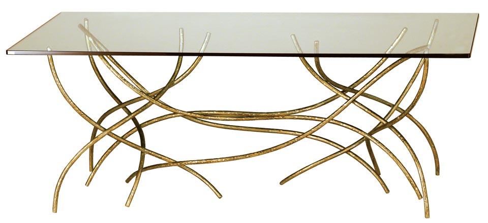 table basse classique verre