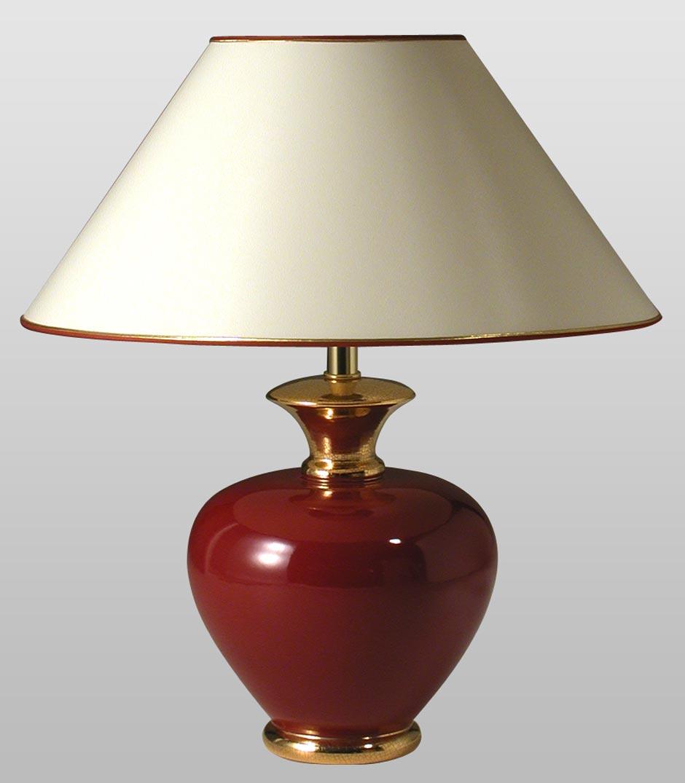 Pinta rubis lampe de table rouge rubis. Le Dauphin.