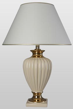 Adria ivory table lamp. Le Dauphin.