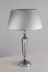 Hamel chrome and optical glass table lamp. Le Dauphin.