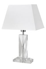 Harmonie B cut glass table lamp. Le Dauphin.