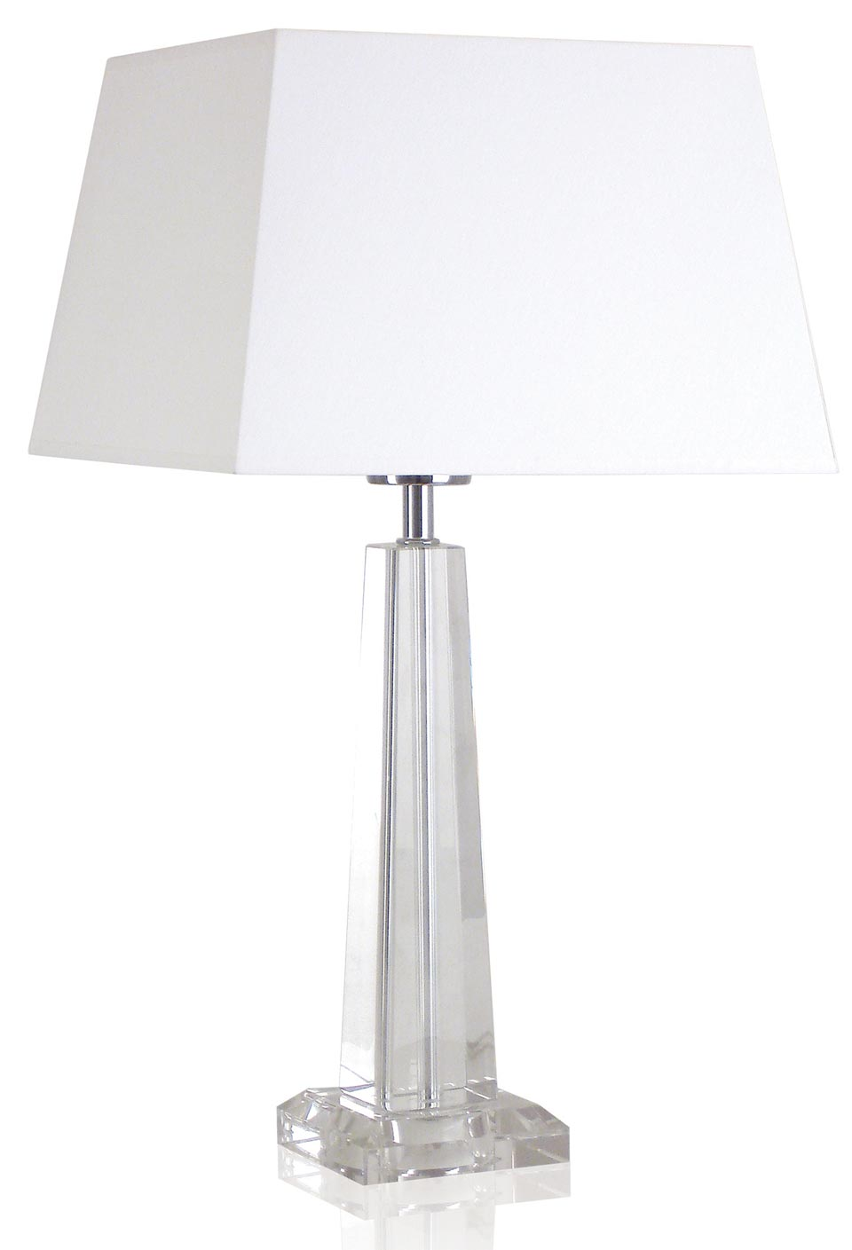 Hilary B Optical glass pyramid shaped table lamp. Le Dauphin.
