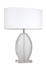 Honorine B clear glass table lamp. Le Dauphin.