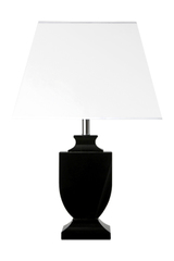 Hymont black optical glass table lamp. Le Dauphin.