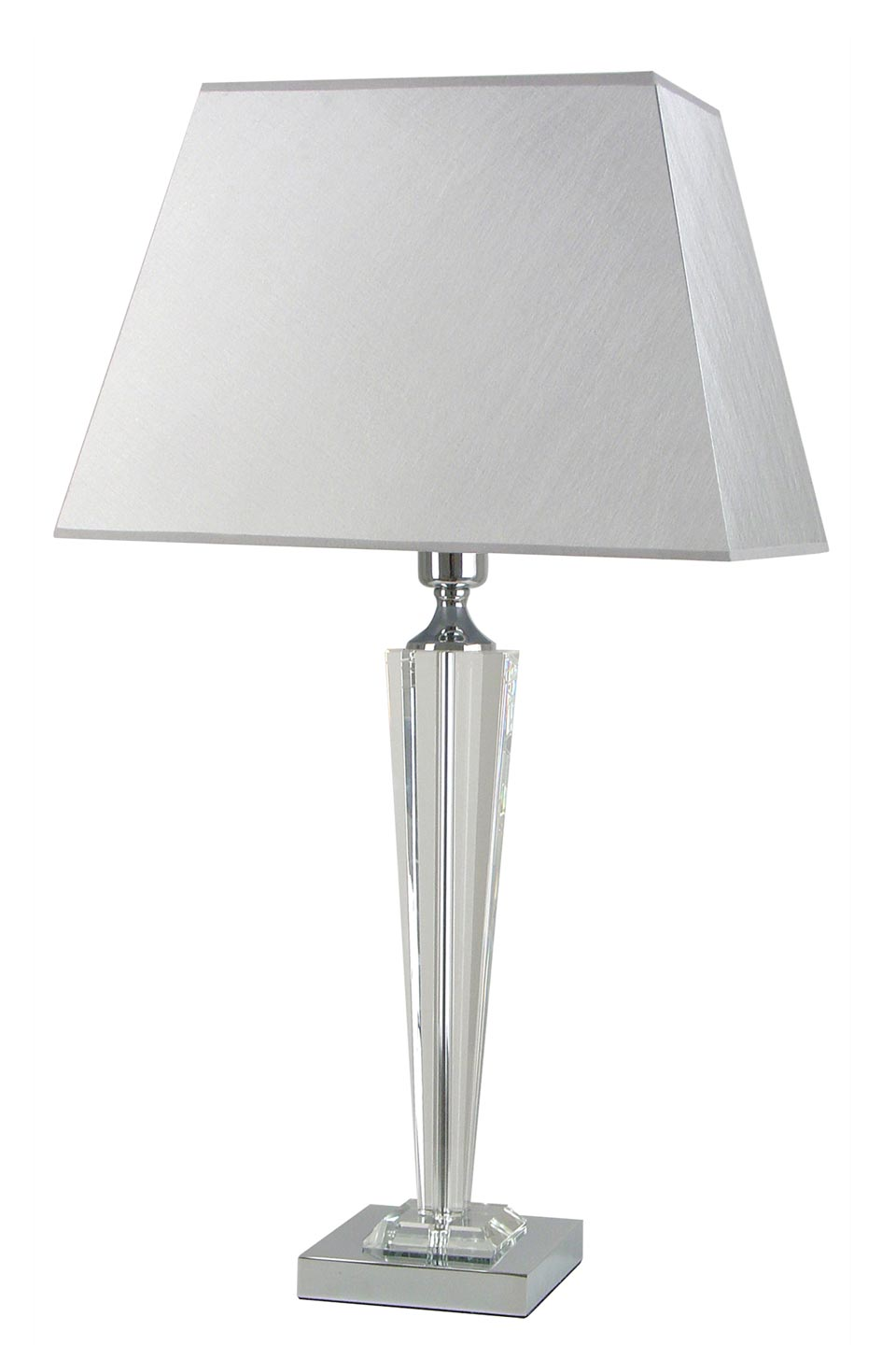 Large optic glass and gray fabric lamp Celya Ag. Le Dauphin.