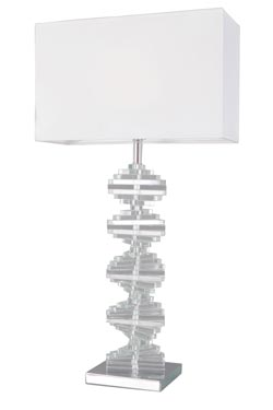 Large optical glass table lamp Artica. Le Dauphin.