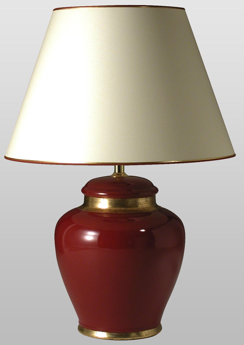 Leode Ruby Ceramic Table Lamp With Gold Details Le Dauphin