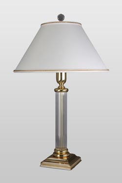 Lubin optical glass table lamp. Le Dauphin.