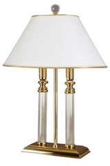 Lussac table lamp 2 lights. Le Dauphin.