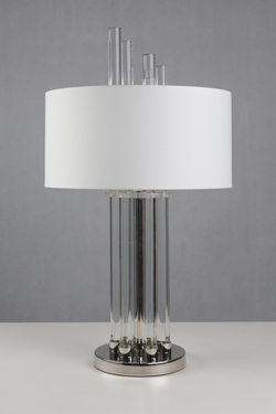 Moroni chrome and glass table lamp. Le Dauphin.