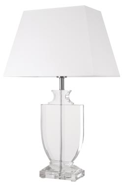 Optical glass table lamp Hariette B. Le Dauphin.