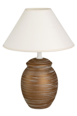 Orn MR brushed ceramic table lamp small model. Le Dauphin.