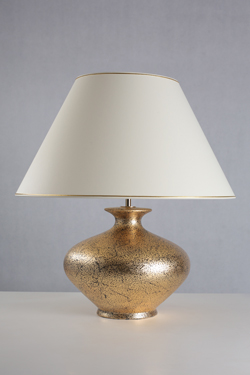 Rebecca gold speckled ceramic table lamp. Le Dauphin.
