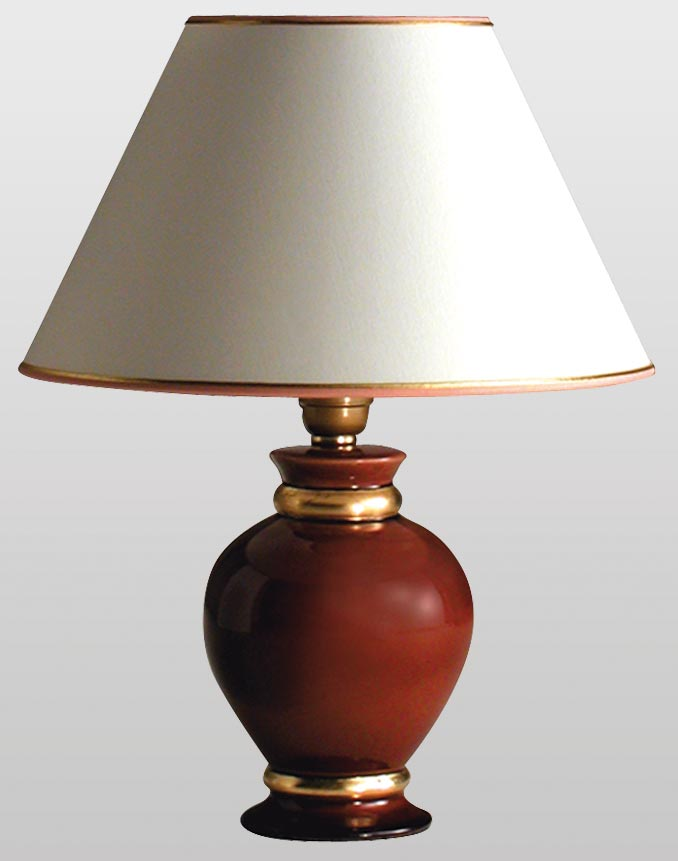 Lef Red Ruby And Gold Ceramic Table Lamp Le Dauphin