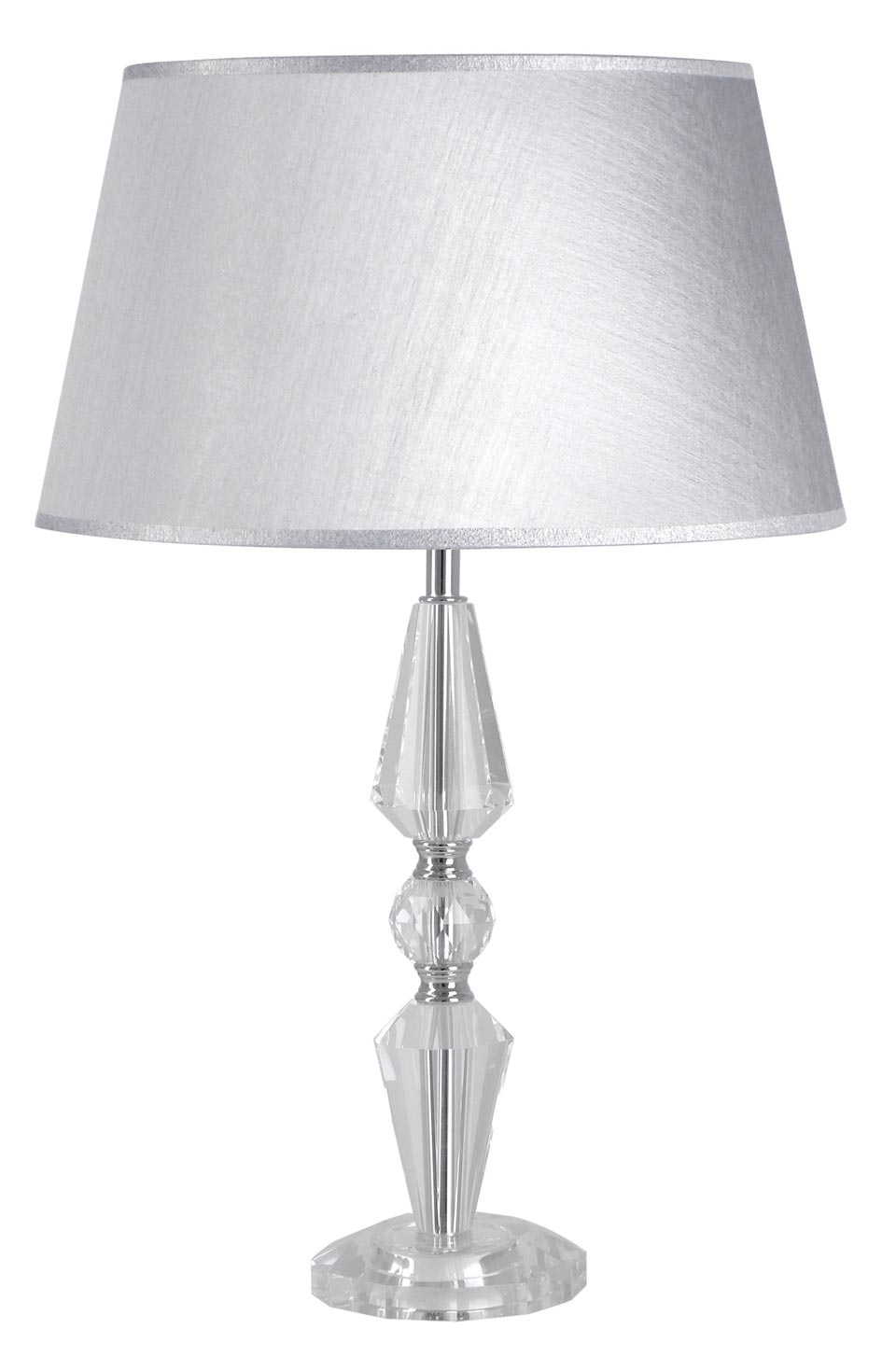 Silver-gray and optical glass table lamp Hermance. Le Dauphin.