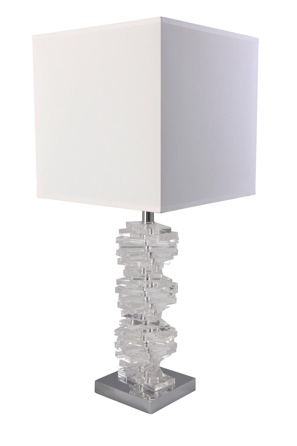 Available In Large Size Spiral Cut Glass Base Lamp