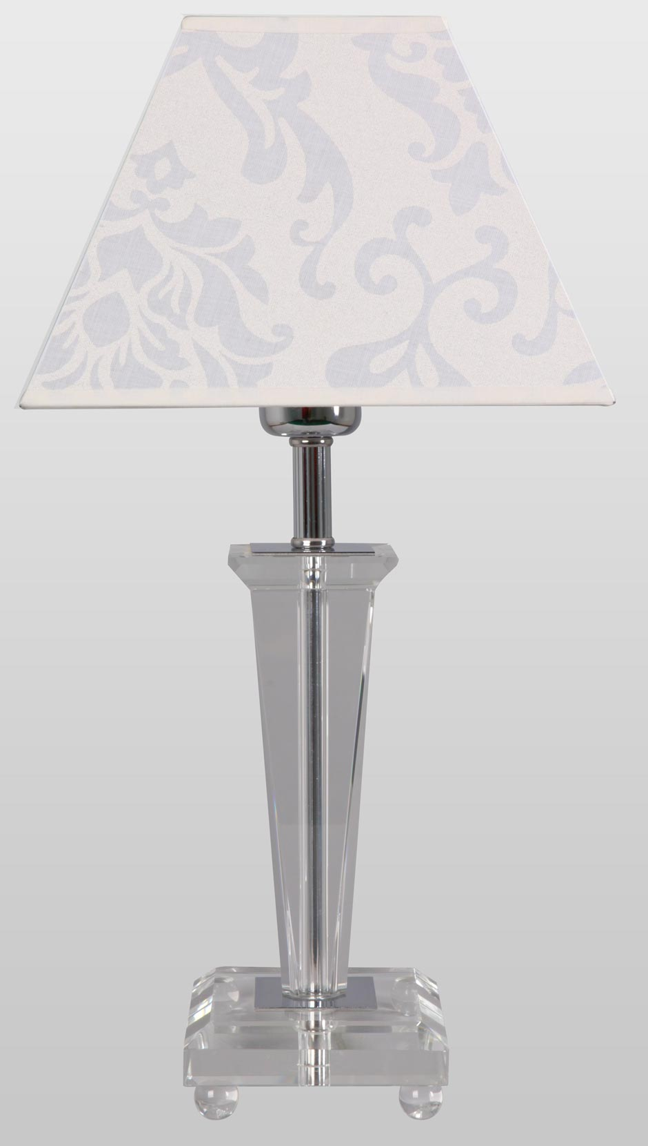 Via TS optical glass table lamp. Le Dauphin.