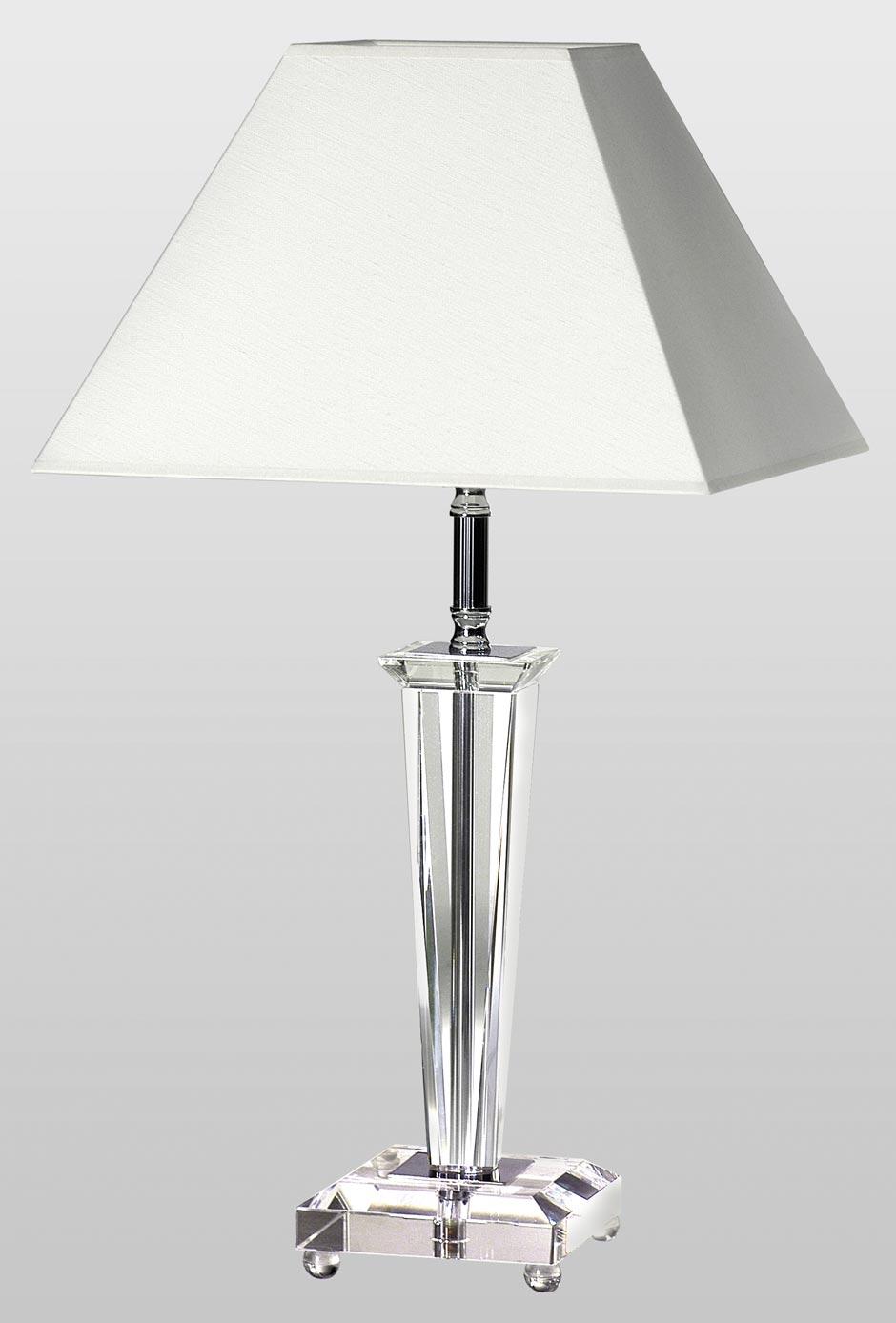 Viana TS lampe de table avec abat-jour blanc. Le Dauphin.