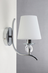 Cheverny chrome and optical glass wall lamp. Le Dauphin.