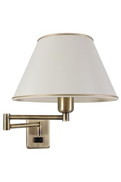 Foldable brushed Gold Wall lamp. Le Dauphin.