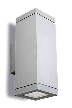 Afrodita applique d'extérieur PM design aluminium gris. Leds C4.