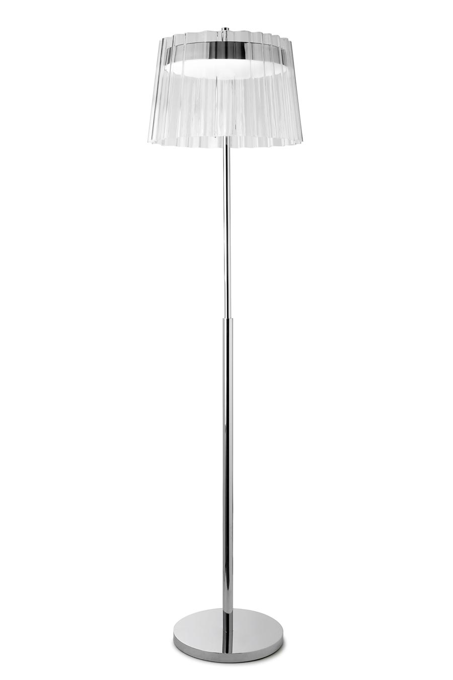 Iris lampadaire design transparent. Leds C4.