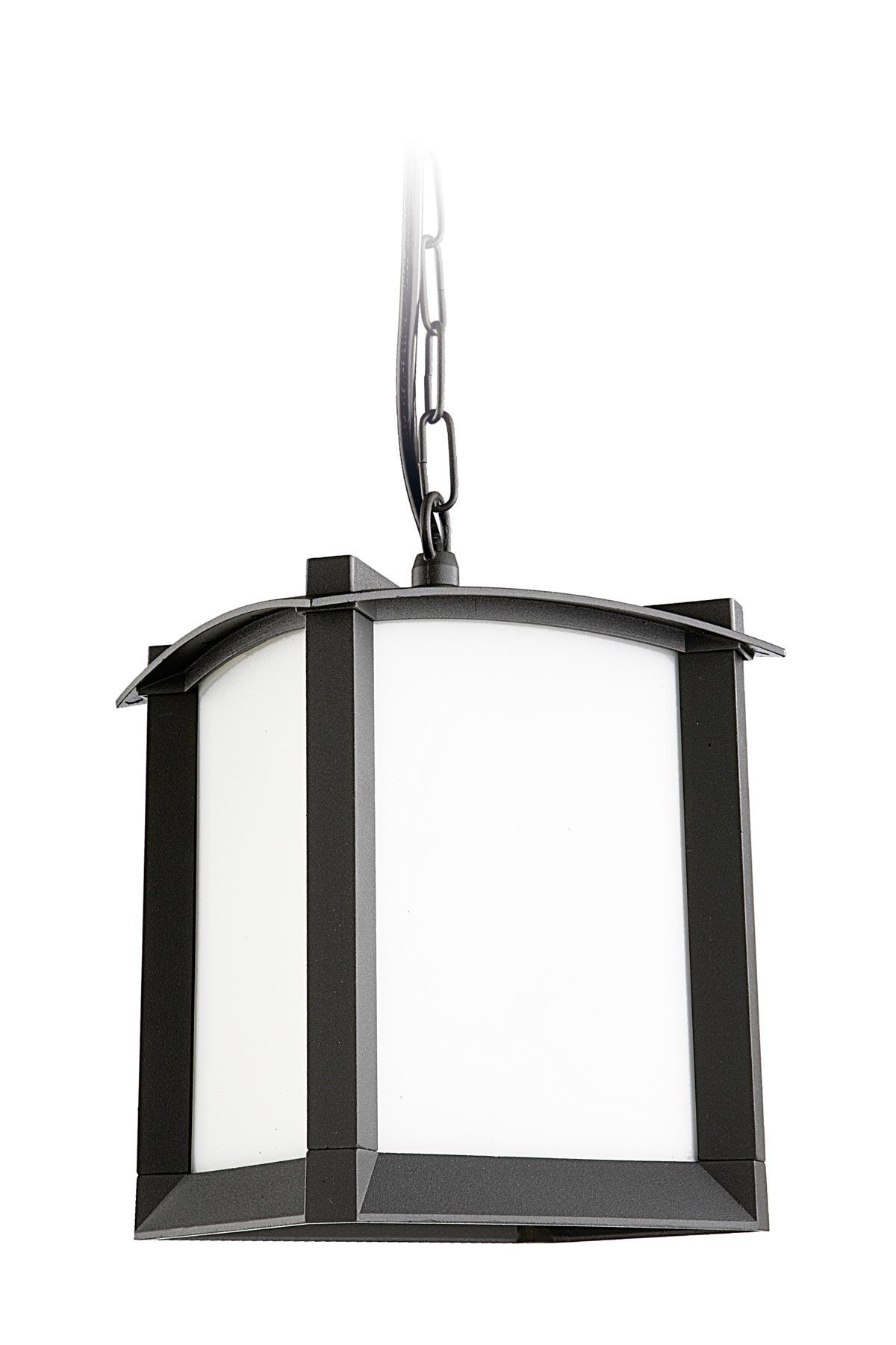 Mark lanterne d 39 ext rieur design fer forg leds c4 r f for Suspension fer noir