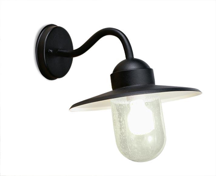 Triton applique d 39 ext rieur aluminium noir leds c4 r f for Luminaire exterieur noir