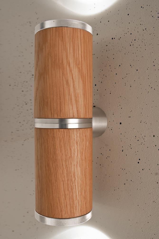 athene applique double led en bois et aluminium de forme. Black Bedroom Furniture Sets. Home Design Ideas