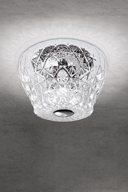Plafonnier en cristal taillé Atelier. Leucos.