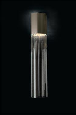 Plafonnier tube de cristal Reed 90S petit modèle. Leucos.