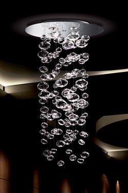 Suspension bulles de cristal en cascade Ether 150S. Leucos.