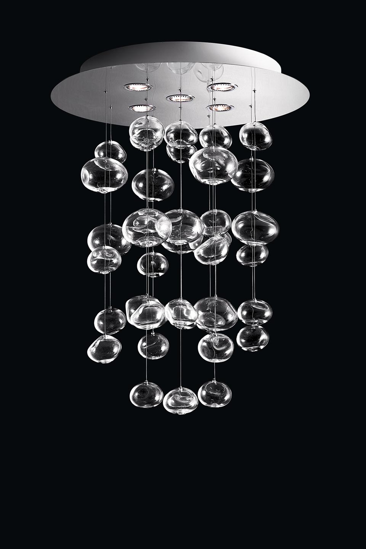 Suspension bulles de cristal en cascade ether s r f - Suspension en cristal ...