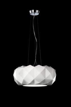 suspension deluxe en verre souffl blanc esprit origami r f 16090110. Black Bedroom Furniture Sets. Home Design Ideas