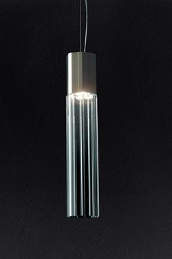 Suspension tube de cristal Reed 90S petit modèle. Leucos.