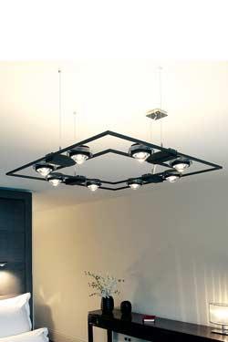 Ocular 710 suspension en acier noir mat. Licht Im Raum.