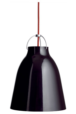 Caravaggio suspension MM noire. Light Years.