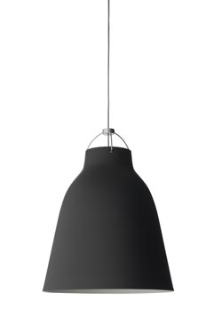 Grande suspension Caravaggio Matt noire. Light Years.