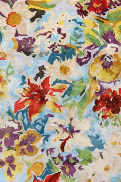 Tapis impression florale multicolore 140x200cm. Ligne Pure.