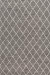 Tapis losanges blanc sur fond gris 140x200cm. Ligne Pure.