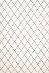 Tapis losanges gris sur fond blanc 140x200cm. Ligne Pure.