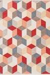 Tapis Love motif Cube inspiration Bauhaus - 140x195cm. Ligne Pure.