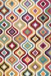 Tapis motif oriental multicolore 140x200cm. Ligne Pure.