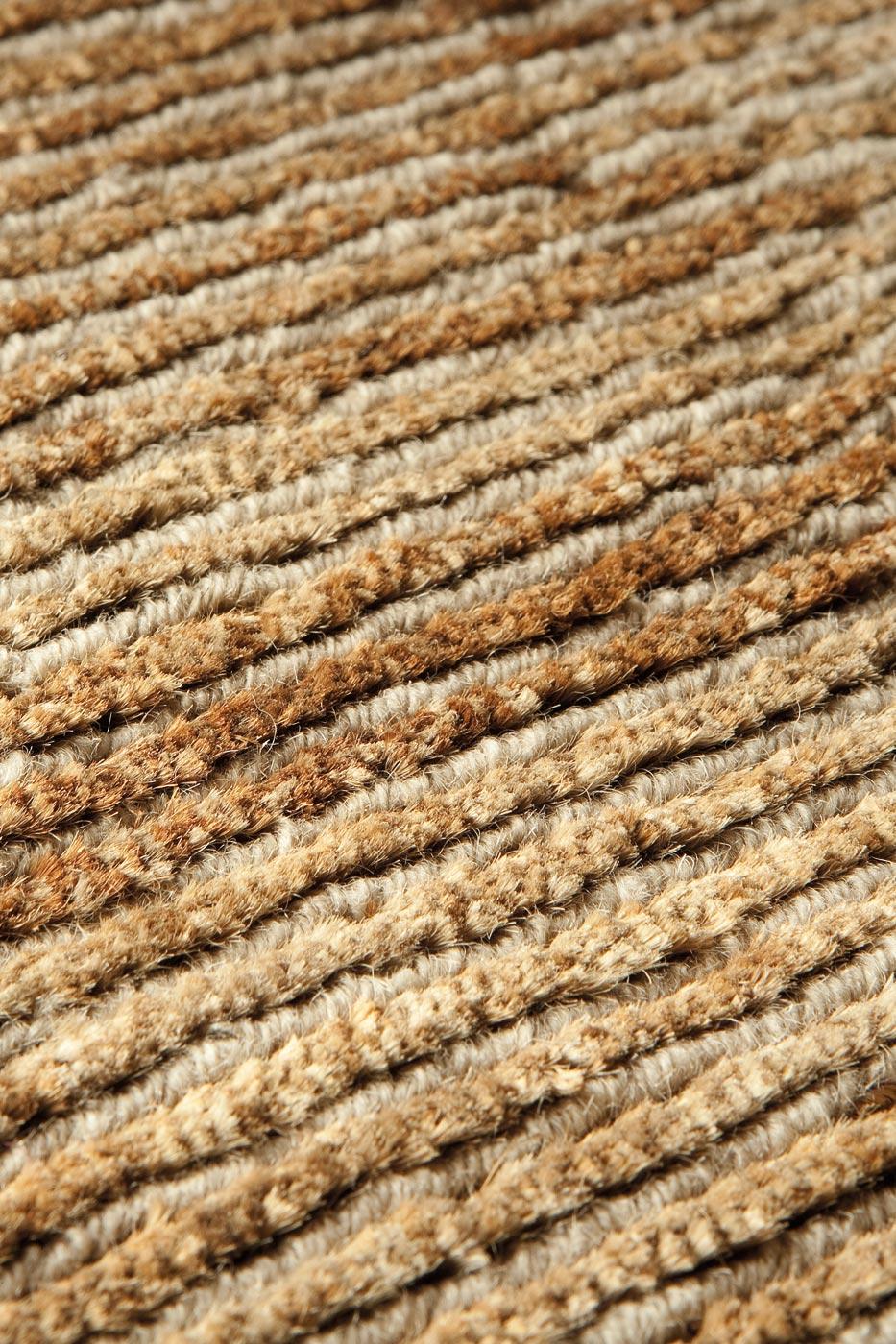 Tapis laine et chanvre beige et fauve ligne pure tapis contemporains fabriqu s la main Beaux tapis contemporains