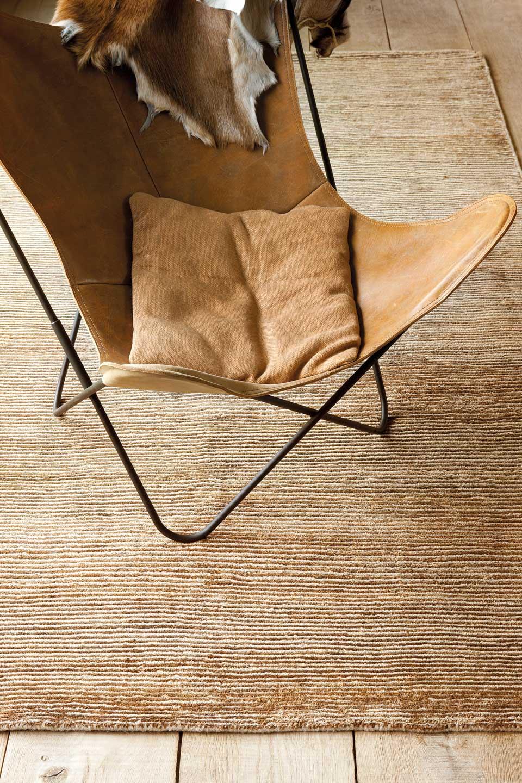tapis laine et chanvre beige et fauve ligne pure tapis contemporains fabriqu s la main. Black Bedroom Furniture Sets. Home Design Ideas