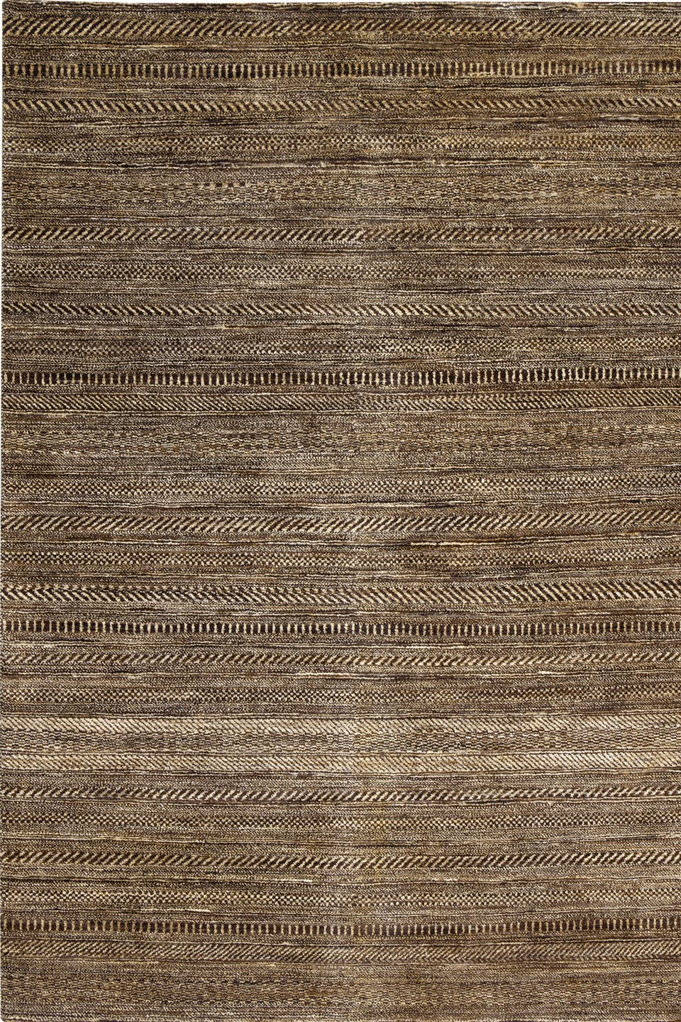 Tapis traditionnel rayures beige et brun fonc ligne pure tapis contemporains fabriqu s la Beaux tapis contemporains