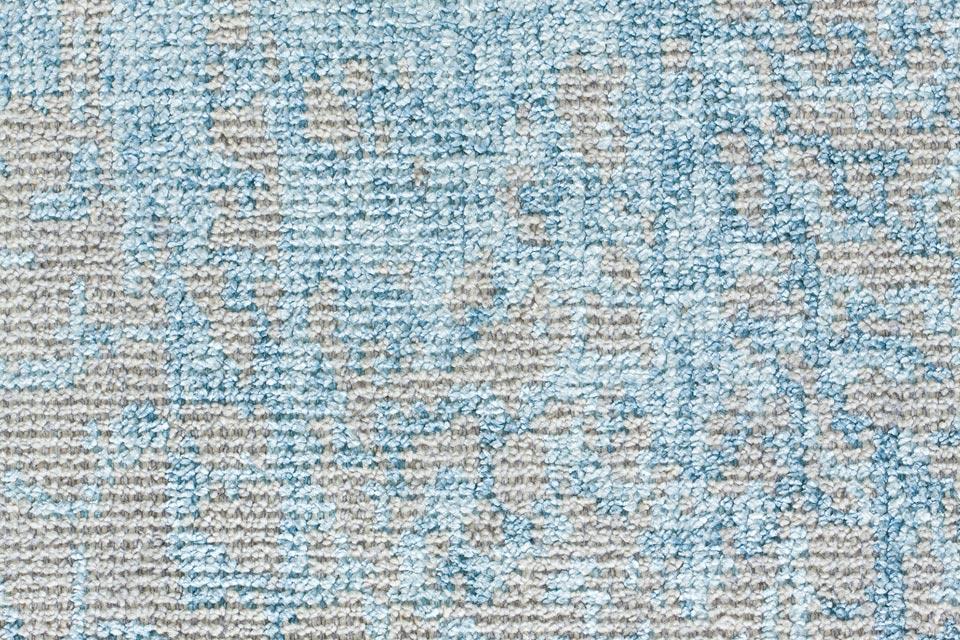 Tapis reflect motifs bleu sur fond gris ligne pure tapis contemporains fabriqu s la main Beaux tapis contemporains