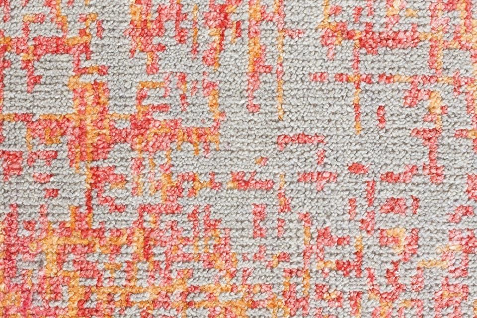 tapis reflect motifs corail et orange sur fond beige ligne pure tapis contemporains. Black Bedroom Furniture Sets. Home Design Ideas