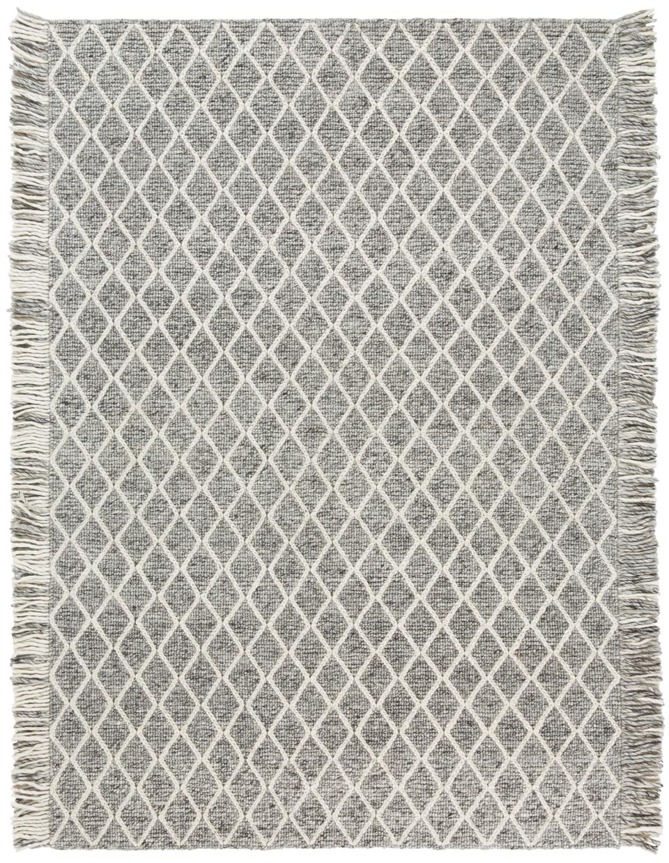 Tapis transform gris avec franges ligne pure tapis contemporains fabriqu s la main r f Beaux tapis contemporains